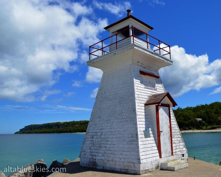 The lighthouse at Lion's Head, Ontario.