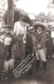 Ahorcados revolucion mexicana 1910