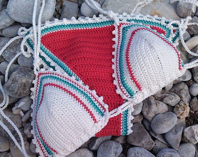 crochet bikini Sea Blue Crochet Vintage bikini Crochet Boho