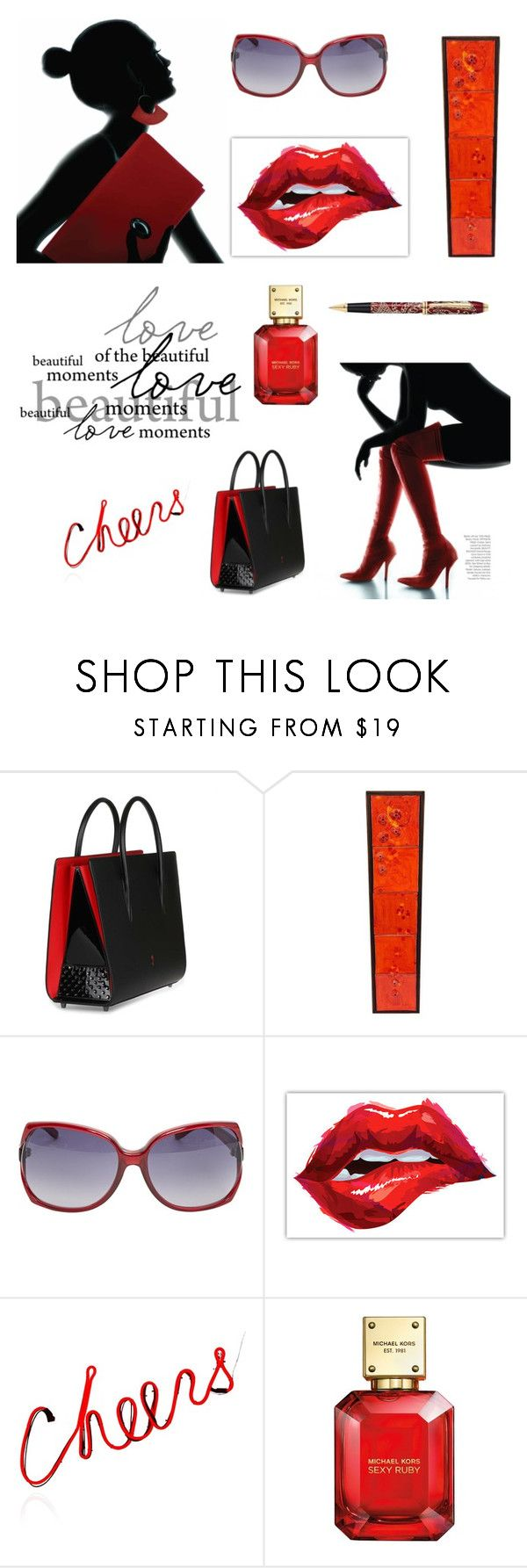 """""""Cheers Love ❤️"""" by magic-mia ❤ liked on Polyvore featuring beauty, Christian Louboutin, Vogue, Michael Kors, love, cheers and polyvorefashion"""