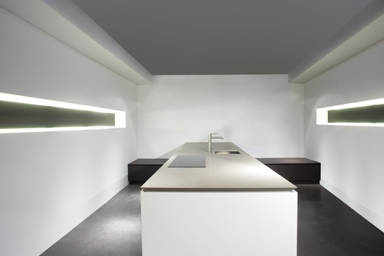 Tailor made minimalist luxury space with kitchen island by Eggersmann _