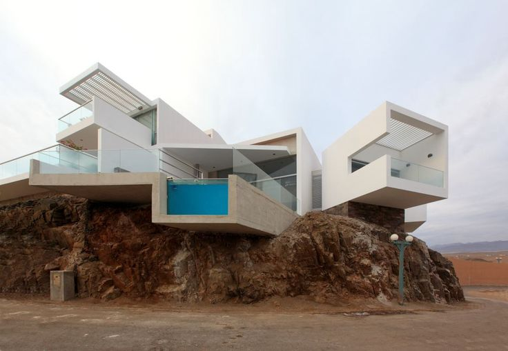 Ocean front eccentric house