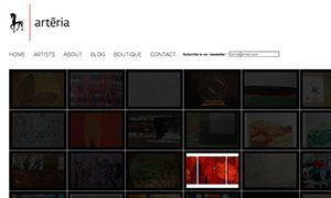 Chocolat Média - Conception de Site Web - Arteria Gallery