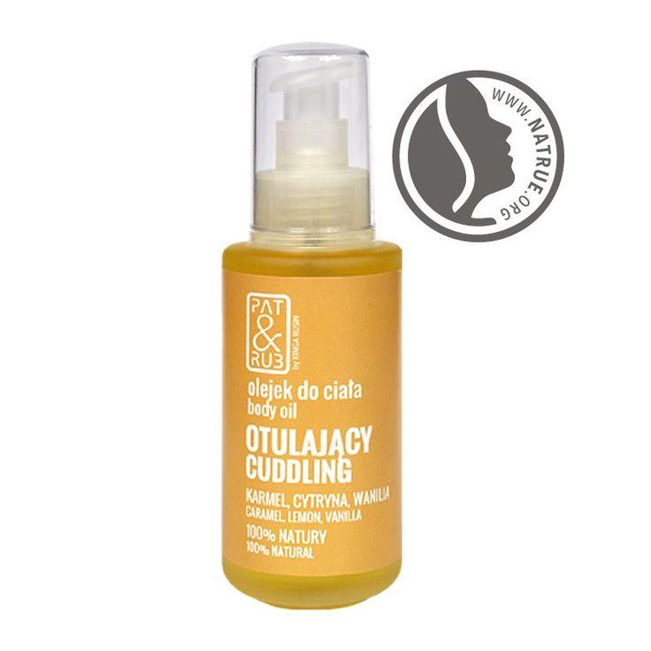 #body_oil 100% #natural #cosmetics #beauty #massage #caramel #lemon #vanilla #patandrub #olejek #masaż ciała #otulający #certyfikowane #kosmetyki #naturalne #patrub #cytryna #karmel #wanilia #oleje #natrue #certification