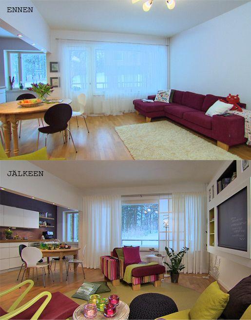 Sisustussuunnittelu minnan suunnittelema olohuoneen muutos #sisustusminna #sisustussuunnitteluminna #värikäs #colourful #iloinen #olohuone #livingroom Tyylivarkaissa
