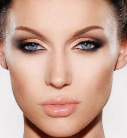 Mavi göz makyajı 2014