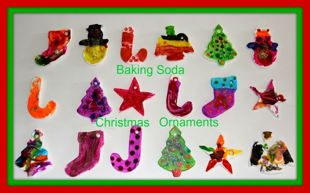 Four Little Piglets Baking Soda Christmas Ornaments