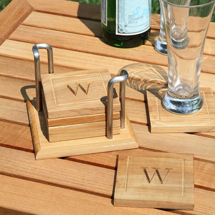 Nice Squares Of Solid Teak Make The Perfect Coasters   Personalize With An  Engraving. Coaster SetOutdoor DiningTeakVineyard
