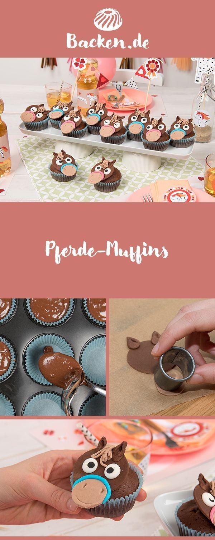 Pferde Muffins Rezept Von Backen De Rezept Kindergeburtstag Pferde Pferde Party Muffins Verzieren