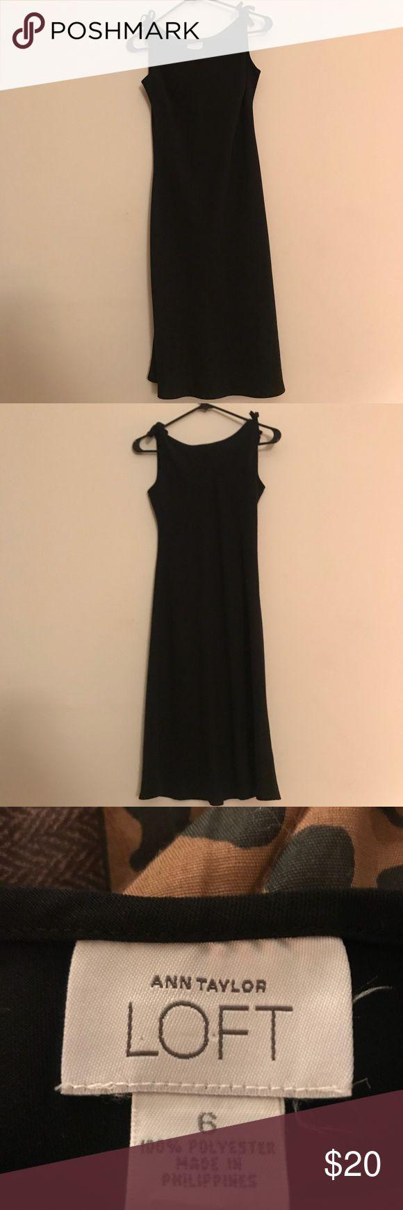Woman's size 6 Anne Taylor Loft dress Woman's size 6 Anne Taylor Loft long black dress Anne Taylor Loft Dresses