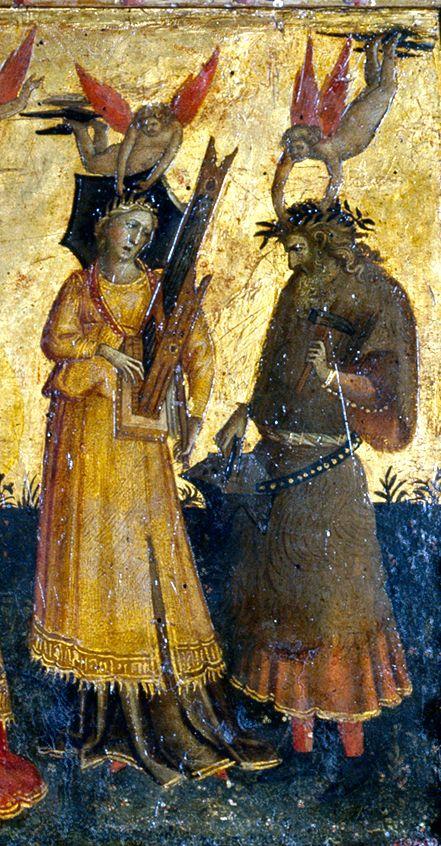 Giovanni dal Ponte - Allegorie delle Arti Liberali, dettaglio - 1435 ca. - Madrid, Museo del Prado