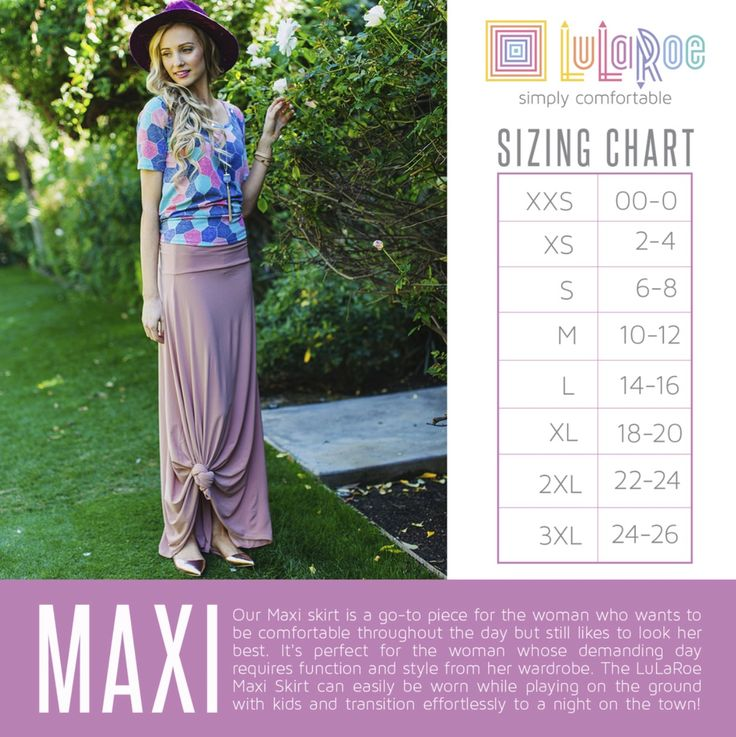 Maxi size chart https://www.facebook.com/groups/lularoejilldomme/