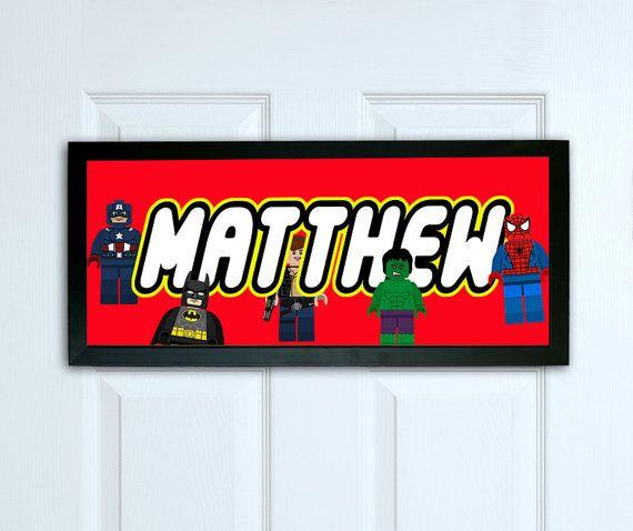 Personalised door sign print   Lego Superhero door sign   Kids Bedroom door  sign  Personalized name sign  Nursery decor  door decoration. 25  unique Bedroom door signs ideas on Pinterest   Harry potter