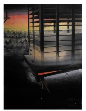 Artist:  BHOLANATH RUDRA Title:  IRON LUNG Medium:  WATER COLOUR ON PAPER Size:  114X150 Exhibition:  50th Annual Exhibition, 2017 Price:  50,000