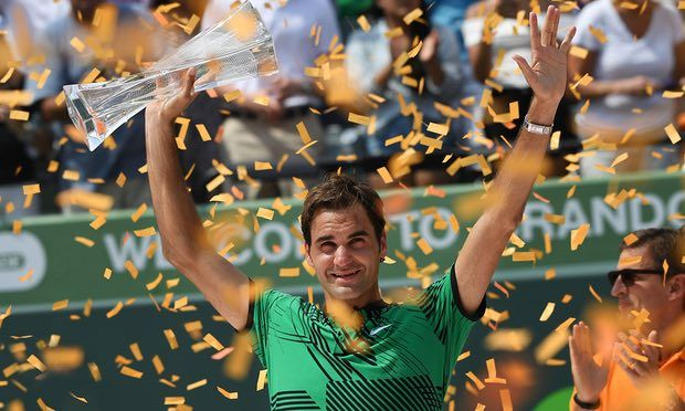 Roger Federer soaks up the adulation in Miami after winning the title with his final victory over Rafael Nadal on Sunday. Photograph: Dave Shopland/BPI/Rex/Shutterstock The Swiss master's astonishing return has proved that longevity is still possible at the top of the game if you manage your schedule and know your body's limits Roger Federer's decision … Continue reading Roger Federer's resurgence shows less can be more on gruelling Tour →