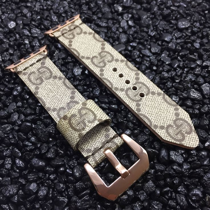 Gucci Monogram Apple Watch Band Rose Gold Buckle - Custom Handmade Upcycled Strap 38mm or 42mm - iWatch by YSquaredDesigns on Etsy https://www.etsy.com/listing/526172459/gucci-monogram-apple-watch-band-rose