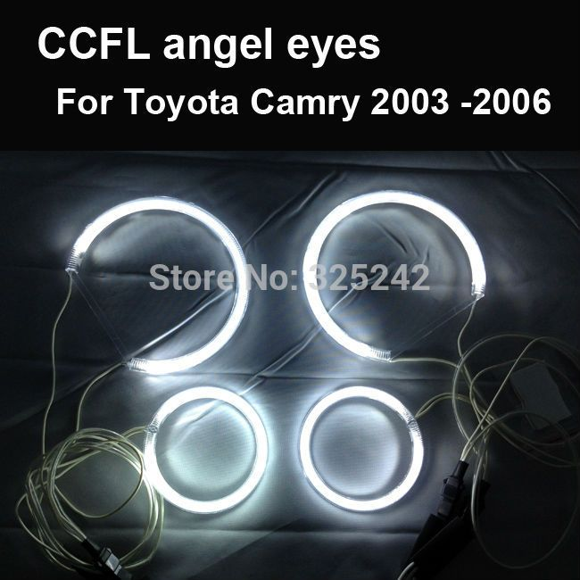 Find More Angel Eyes Information about Excellent Ultra bright headlight illumination CCFL Angel Eyes kit For Toyota Camry 2003  2006,CCFL Angel Eyes,High Quality Angel Eyes from Hongkong exl Industrial Co., Ltd.(guangzhou) on Aliexpress.com