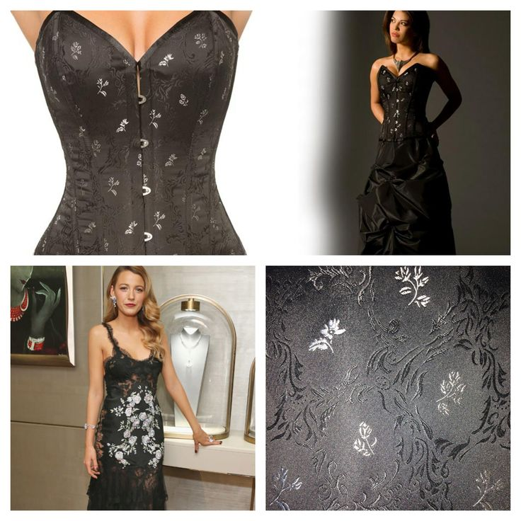 Get Blake Lively's silver flower underwear as outerwear look with Vollers Paradise 1808 corset in Silver Flower. Available at: http://www.vollers-corsets.com/paradise.html