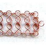 Double 8's Bracelet made out of jewelry wire and jewelry supplies shaped using WigJig jewelry making tools.