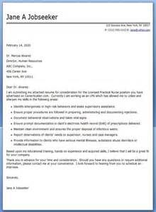 Resume Cover Letter Lpn