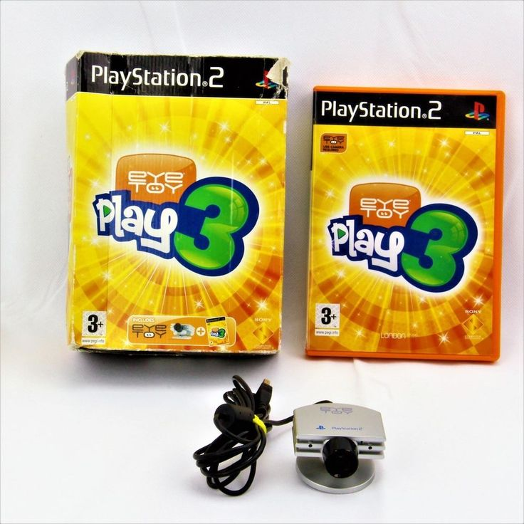 PLAYSTATION 2 EYE TOY PLAY 3 CAMERA & GAME PS2 OVER 50 GAMES 1-4 PLAYERS PAL