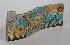 Ceramic Menorah by Janine Sopp