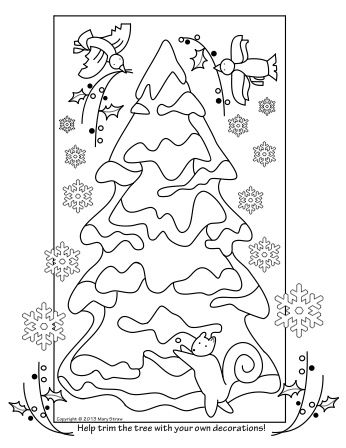 """Help Trim the Tree"" is part of a five page set of Christmas activity, coloring pages.  So fun!"