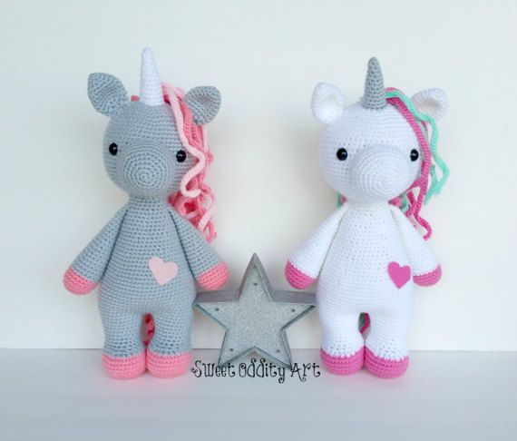 crochet unicorn unicorn crochet pattern unicorn by SweetOddityArt