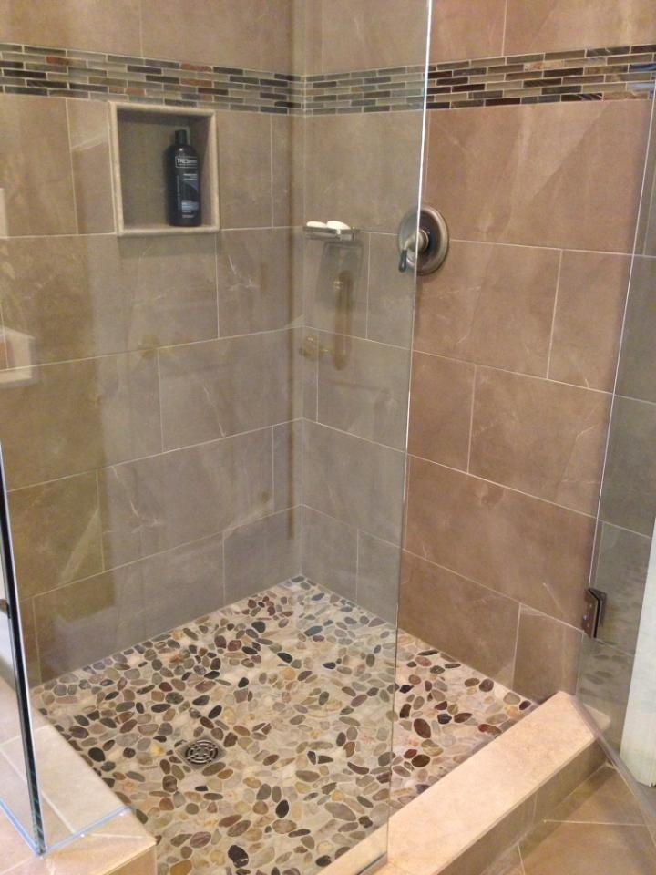 Shower Floor Tiles Which Why And How: Come Visit Us At Triangle Tile & Stone #bathrooms #pebble