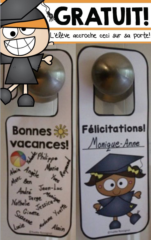 French Door Hangers! 3 choices! PARFAIT pour la fin de l'année!