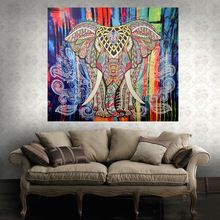 Nueva Llegada del Elefante de Color Bohemio Tapiz Decorativo Impreso Manta India Boho Hippie Mandala Tapiz Colgante de Pared(China (Mainland))