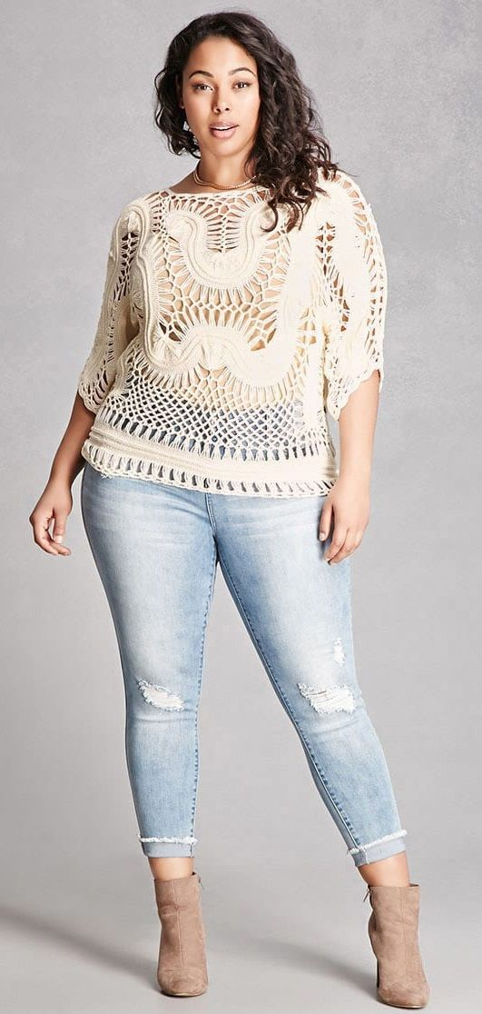 Plus Size Crochet Top