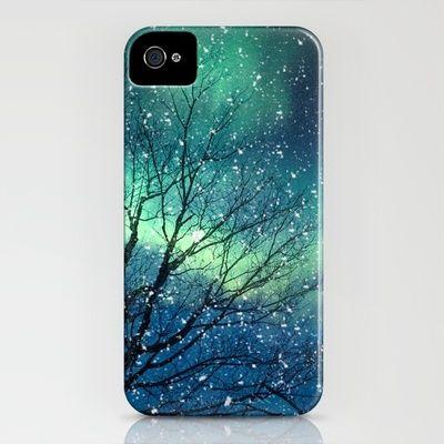 So very pretty! Aurora Borealis Northern Lights iPhone Case by Bomobob - $35.00