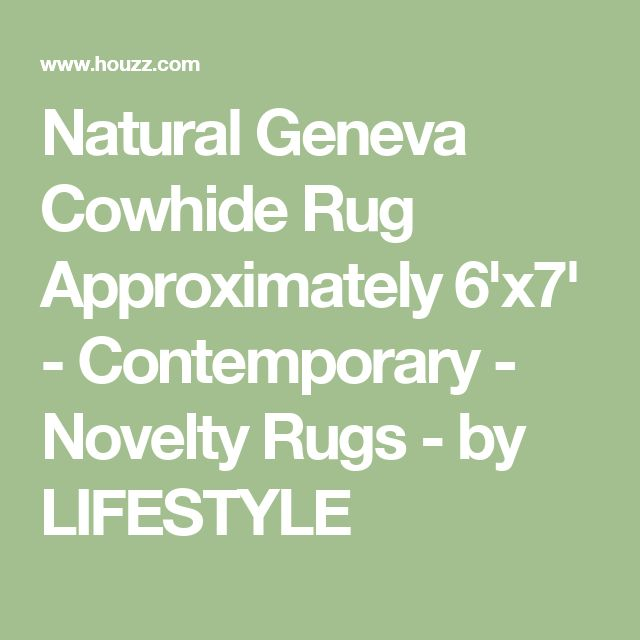 Natural Geneva Cowhide Rug Approximately 6'x7' - Contemporary - Novelty Rugs - by LIFESTYLE