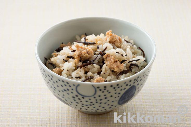 Рис+ куриный фарш + водоросли