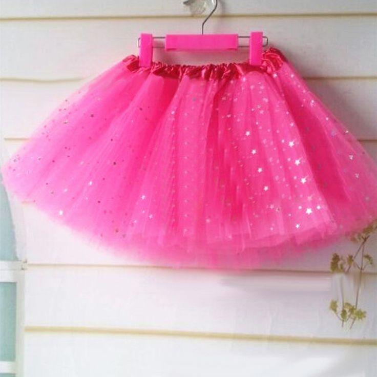 2-8 éveseknek való csillogó pink tütü / tüll szoknya rendelhető