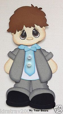 Premade Eater Tuxedo Boy Dressed Paper Piecing Summer by My Tear Bears Kira…