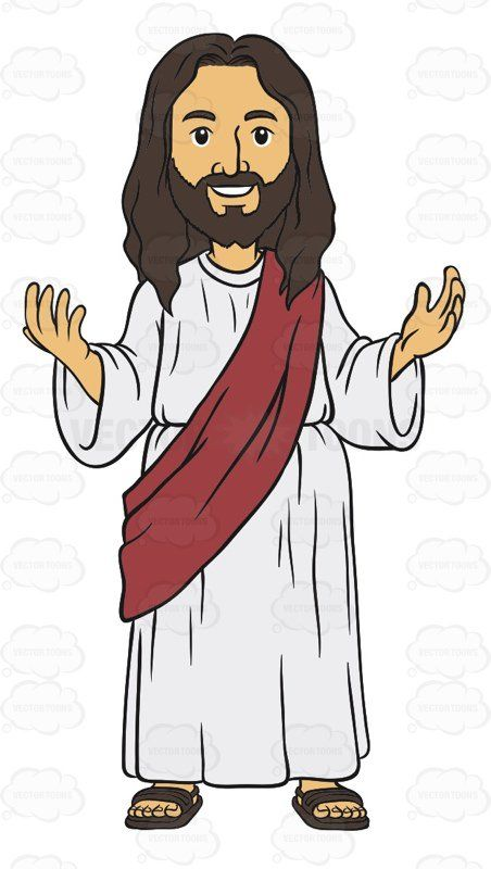 Jesus With His Eyes Open A Smile On His Face And His Arms ...