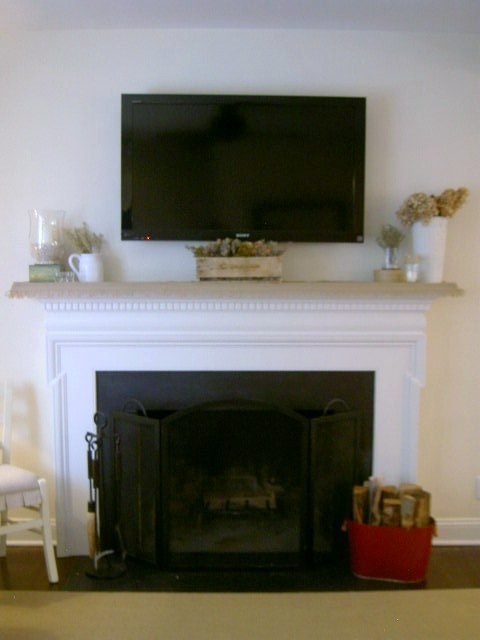 decorating around flat screen tv For the Home Pinterest