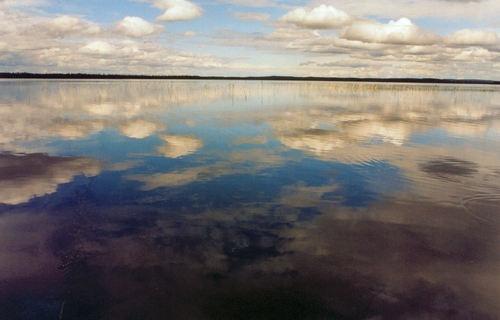 Lake Yli-Kitka near Posio, Lapland