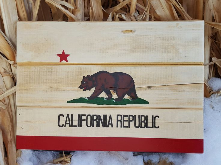 $39.99 Reclaimed Wood California Flag  BlueFoxFurnishings on Etsy