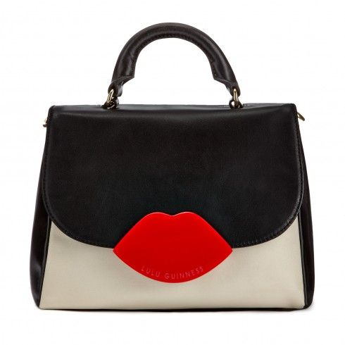 Tri Colour Smooth Leather Small Izzy Satchel Cross Body Bags | Bags | | Lulu Guinness