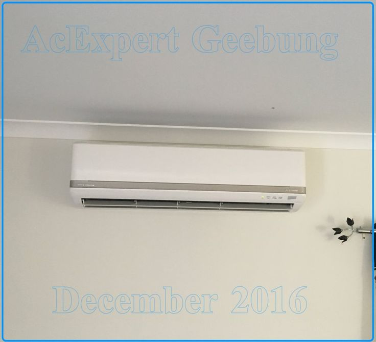 Straight. Look how straight this one is Mitsubishi Air conditioning installations Brisbane