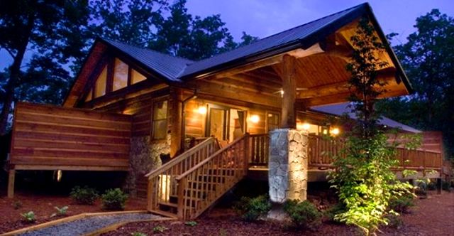 The Treehouses--Watershed Cabins are a collection of luxury rental log cabains in the Great Smoky Mountains of North Carolina.  Near the Nantahala River, Fontana Lake, Bryson City.  Every cabin has a hot tub!
