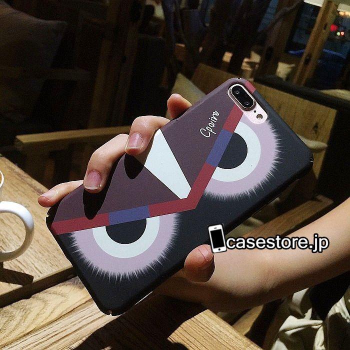 ファッションブランド怪獣モンスター目眼精緑赤いiPhone8/7s/7/7Plusケースカップル向けペア携帯カバー