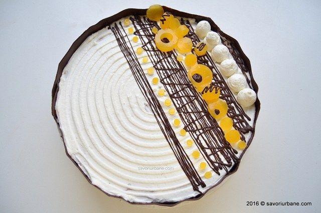 Tort aniversar cu mousse de ciocolata si jeleu de portocale Savori Urbane (4)