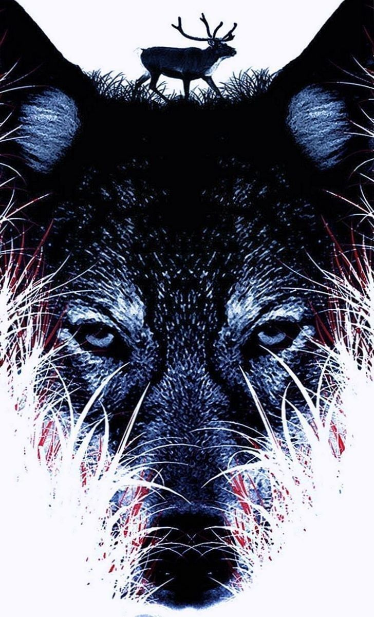 Black Wolf Wallpapers For Iphone Abstract Wolf Wolf Wallpaper