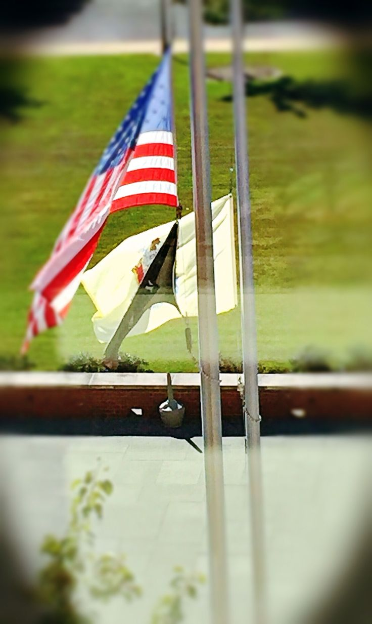 Flags half staff today at the courthouse... Somber day... RIP Judge