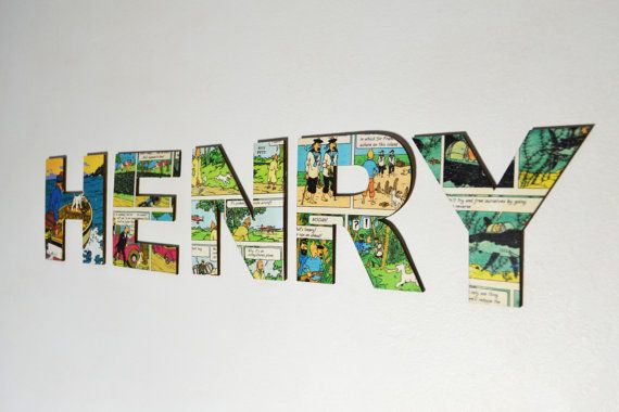The Adventures of Tintin Personalised Wooden Name Letters