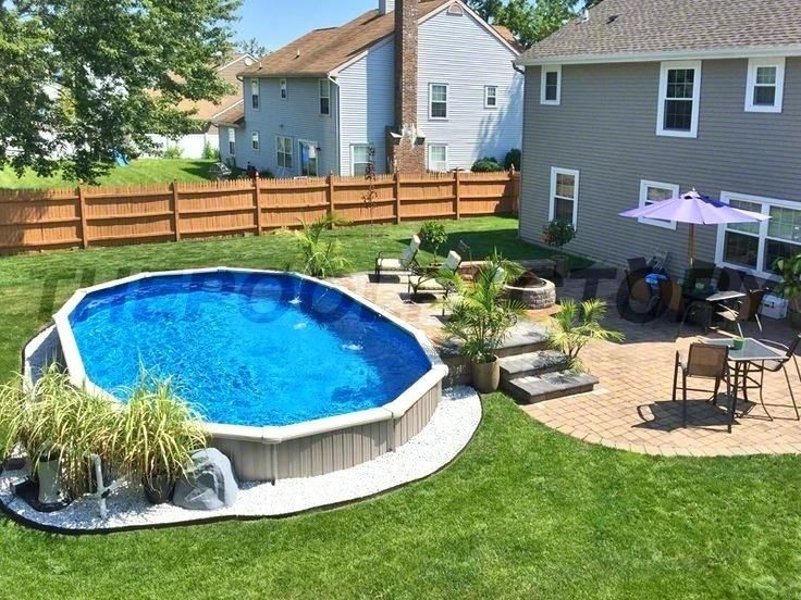 Backyard Design Ideas With Above Ground Pool Swimming Pools Backyard Backyard Pool Landscaping Above Ground Pool Landscaping